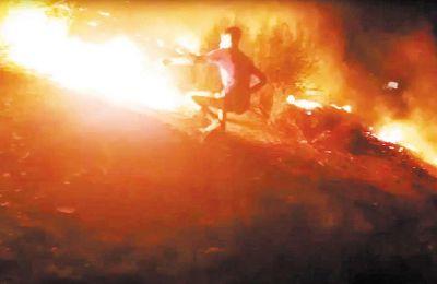 Η φωτιά περιορίστηκε το επόμενο πρωί, έχοντας όμως προηγουμένως καταστρέψει το σύνολο σχεδόν των σκηνών και οικισμών