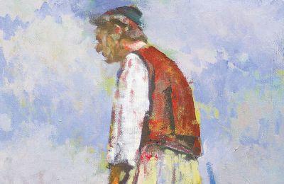 Εργο του Βασίλη Λιαούρη, συμμετοχή στην έκθεση για τον Θεόφιλο (φωτ. ΒΑΣΙΛΗΣ ΛΙΑΟΥΡΗΣ)