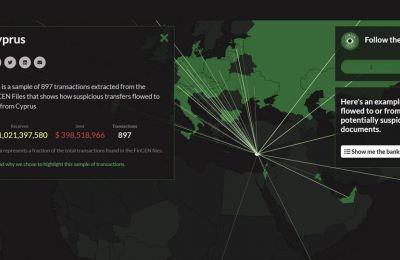 Η έρευνα βασίζεται σε χιλιάδες «αναφορές ύποπτης δραστηριότητας» (SAR) προς το αμερικανικό FinCen, από τράπεζες σε ολόκληρο τον κόσμο. Φωτογραφία από BBC.