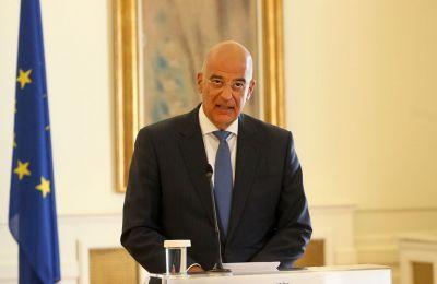 Ο κ. Δένδιας διαχώρισε πως υπάρχουν οι κυρώσεις κατά της Τουρκίας όσον αφορά τις παραβιάσεις της στην Κύπρο, Φωτογραφία από ΚΥΠΕ.