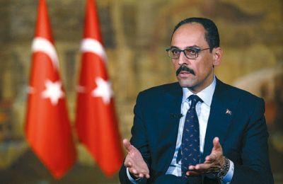«Εφόσον περιμένει κανείς να κάνει η Τουρκία το Α, το Β ή το Γ, πρέπει και οι χώρες της ΕΕ να εκπληρώσουν τις ευθύνες τους,» τόνισε ο Καλίν.