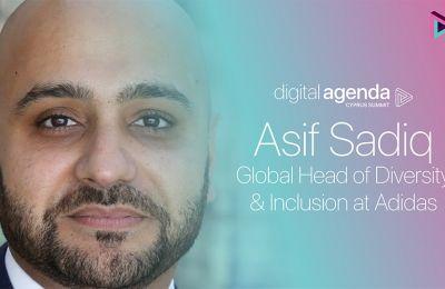 Ο Asif Sadiq είναι επικεφαλής του Παγκόσμιου Τμήματος Ετερογένειας και Ενσωμάτωσης της Adidas.