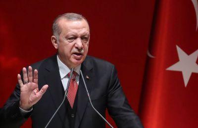 Ο Ερντογάν είχε συντηρήσει τη ρητορική περί «Γαλάζιας Πατρίδας» και το Σάββατο.