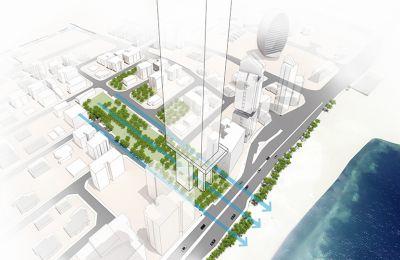 Για κάθε ψηλό κτήριο σε αστικό οικόπεδο, θα μπορούσε να ζητηθεί από το φορέα ανάπτυξης μεγάλου μεγέθους πάρκα και πλατείες με δημόσια πρόσβαση.