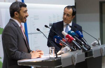 Ο κ. Χριστοδουλίδης συναντήθηκε σήμερα στο Υπουργείο Εξωτερικών με τον Σεΐχη Abdullah Bin Zayed Al Nahyan