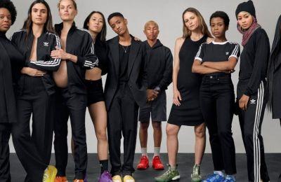 Η καμπάνια των Adidas Originals,  σε συνεργασία με τον Pharrell Williams, παρουσιάστηκε από άντρες και γυναίκες που εκπροσωπούσαν καθημερινούς ανθρώπους, που ξεπερνούσαν τα στερεότυπα του «μοντέλου»