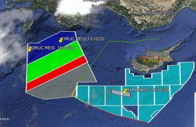 Με βάση το δορυφορικό του στίγμα, το Oruc Reis βρίσκεται 40 ναυτικά μίλια από τις νότιες ακτές της Ρόδου και 42,5 ναυτικά μίλια από τις ανατολικές ακτές της Καρπάθου.
