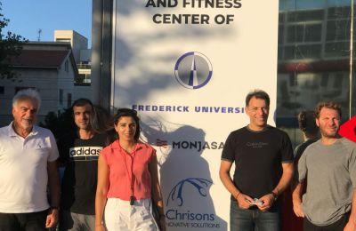 Το Μνημόνιο υπέγραψαν ο Διευθυντής του παραρτήματος του Πανεπιστημίου στη Λεμεσό, κ. Ηλίας Χαραλάμπους, και ο Διευθυντής του Γυμναστηρίου CHS, κ. Νικόλας Κυριάκου.