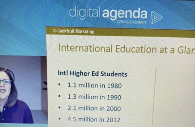 Η κορυφαία αναλυτής ανέπτυξε μια σειρά καινοτόμων λύσεων προτείνοντας μεταξύ άλλων τη διαφήμιση της Κύπρου πρώτα ως προορισμού και στη συνέχεια ως κέντρου σύγχρονης εκπαίδευσης.
