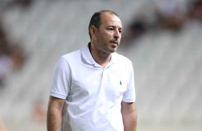 Ο Χρύσης Μιχαήλ στο ματς της πρεμιέρας του πρωταθλήματος κόντρα στον ΑΠΟΕΛ (2-2)