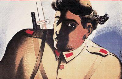 Η έγχρωμη αφίσα «Εδωσες εσύ;», ένα σκοτεινό έργο του χαράκτη Αναστασίου Αλεβίζου–τον γνωρίζουμε με το καλλιτεχνικό ψευδώνυμο Α. Τάσσος–, είναι ίσως από τα λιγότερο γνωστά του