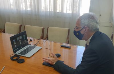 O Πρόδρομος Προδρόμου συμμετείχε σήμερα σε τηλεδιάσκεψη με τους Διευθυντές/Διευθύντριες των Λυκείων Μέσης Εκπαίδευσης στις επαρχίες Λεμεσού και Πάφου