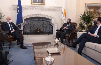 Ο Πρόεδρος της Δημοκρατίας δέχθηκε τον Υπουργό Εξωτερικών της Ελλάδας
