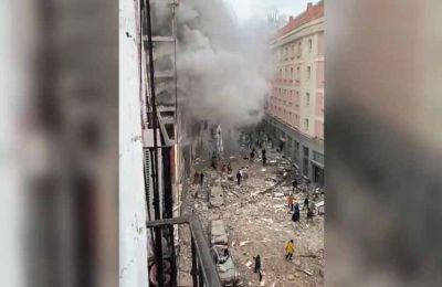 Εικόνα από την έκρηξη που σημειώθηκε στο κέντρο της Μαδρίτης