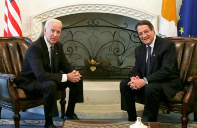 Η φωτογραφία που ανήρτησε στο twitter o Πρόεδρος Αναστασιάδης όταν είχε συναντηθεί στο Προεδρικό με τον Τζο Μπάιντεν.
