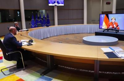 Oι αρχηγοί κρατών και κυβερνήσεων της ΕΕ, συνέρχονται αυτή την ώρα με τηλεδιάσκεψη.