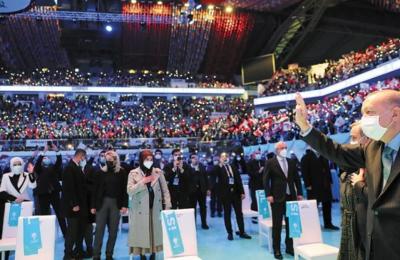 Ο Ρετζέπ Ταγίπ Ερντογάν, σε συνέδριο του AKP στην Κωνσταντινούπολη, τόνισε πως η Τουρκία θα ενισχύσει τους δεσμούς «με τα αδέλφια που βρίσκονται στις γεωγραφικές περιοχές που φθάνει ο πολιτισμός μας»