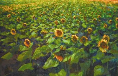 Μίλτος Γκολέμας, «Χωράφι με ηλιοτρόπια», 2020