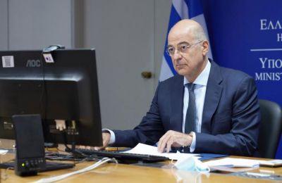 Ο κ. Δένδιας υπογράμμισε την πλήρη στήριξη της Ελλάδας στην πολιτική διαδικασία.