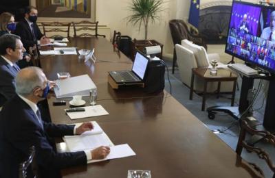 O Πρόεδρος της Δημοκρατίας συμμετείχε στις εργασίες του Ευρωπαϊκού Συμβουλίου μέσω τηλεδιάσκεψης