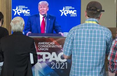 Μιλώντας στη CPAC στο Ορλάντο (Φλόριντα) χθες Κυριακή, ο Ντ. Τραμπ απέφυγε να ξεκαθαρίσει αν θα είναι υποψήφιος ή όχι.