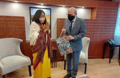 Συνάντηση Ύπατης Αρμοστής της Ινδίας με τον Πρόεδρο της Βουλής των Αντιπροσώπων, Αδάμο Αδάμου