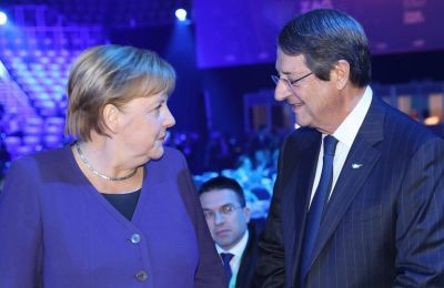 Η καγκελάριος της Γερμανίας Α. Μέρκελ και ο πρόεδρος της Κυπριακής Δημοκρατίας Ν.Αναστασιάσης