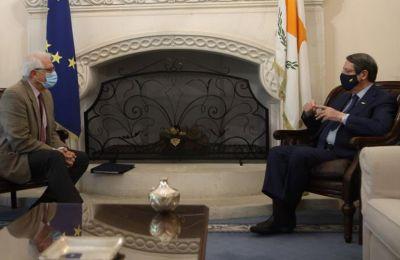 Ο Ύπατος Εκπρόσωπος της ΕΕ Ζοζέπ Μπορέλ και ο Πρόεδρος της Δημοκρατίας Ν.Αναστασιάδης
