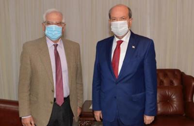Φωτογραφία από τη συνάντηση του Ύπατου Εκπροσώπου της ΕΕ για την εξωτερική πολιτική, Τζοζέπ Μπορέλ με τον Τ/κ ηγέτη Ερσίν Τατάρ