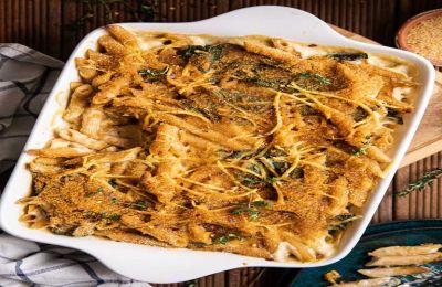 Τα πιο νόστιμα και εύκολα μακαρόνια φούρνου με σπανάκι, που είναι μάλιστα και νηστήσιμα, φτιαγμένα σε μια κατσαρόλα!