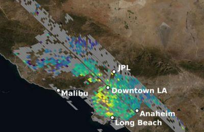 Χάρτης της NASA: Το αποτύπωμα διοξειδίου του άνθρακα στο Λος Άντζελες