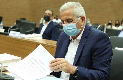 Ο ΓΓ του ΑΚΕΛ Άντρος Κυπριανού κατά τη διάρκεια της Ολομέλειας της Βουλής - Φωτο: Φίλιππος Χρήστου