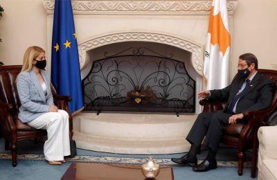 Φωτογραφίες από τη συνάντηση της νέας προέδρου της Βουλής, Αννίτας Δημητρίου με τον πρόεδρο της Δημοκρατίας, Νίκο Αναστασιάδη - Φίλιππος Χρήστου