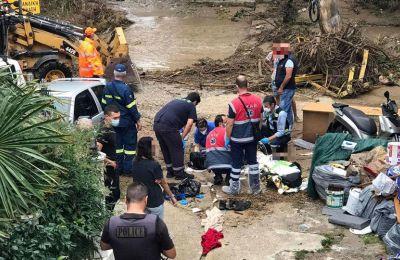 Θεσσαλονίκη: Νεκρός άνδρας που παρασύρθηκε από χείμαρρο