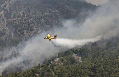 Πυρκαγιές στην Τουρκία: Φλέγεται θερμοηλεκτρικός σταθμός