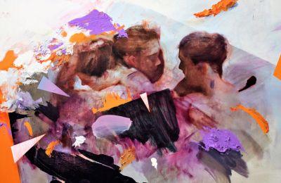 Με τολμηρές σχεδιαστικές χειρονομίες, ο καλλιτέχνης τοποθετεί την ανθρώπινη μορφή στο κέντρο μιας κατάστασης μεταβατικής, όπου είναι έκδηλος ο ψυχισμός της