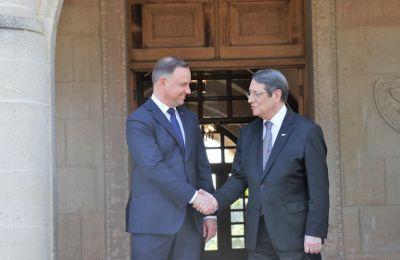 Άρχισαν οι διαβουλεύσεις Αναστασιάδη - Ντούντα με επίκεντρο τη συνεργασία Κύπρου-Πολωνίας