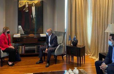 Τις εξελίξεις στο Κυπριακό συζήτησαν Αβέρωφ και Πρέσβειρα Βελγίου