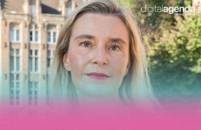Η Federica Mogherini και ο Νίκος Χριστοδουλίδης  στο Digital Agenda Cyprus Summit