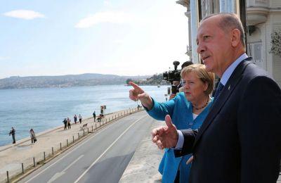 Αποχαιρετιστήρια συνάντηση Μέρκελ – Ερντογάν στην Κωνσταντινούπολη