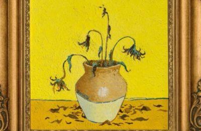 Το εμπνευσμένο από τους πίνακες του Βαν Γκογκ με θέμα τα ηλιοτρόπια, σύμφωνα με εκτιμήσεις του οίκου δημοπρασιών Christie's αναμένεται να πωληθεί 8,8 - 13,2 εκατ. αγγλικές λίρες